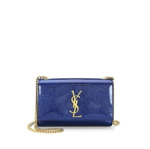 33caca7853c61 Added to Shopping Bag. Saint Laurent Shoulder Bag. Saint Laurent Monogram Kate  Small Glitter Patent Leather ...