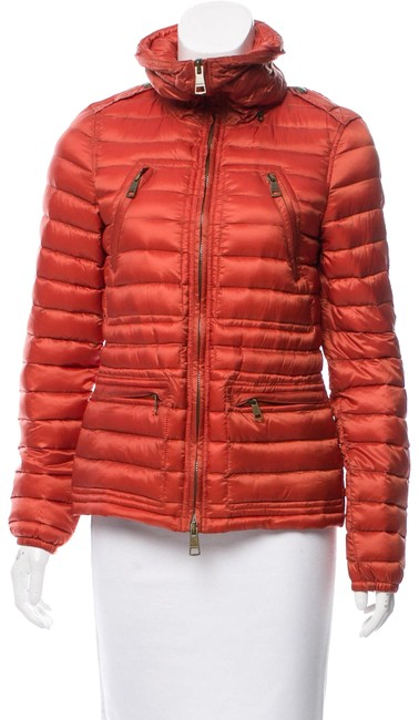 Item - Orange Horizontal Quilt Down Filled Jacket Puffer with Hood Coat Size 4 (S)