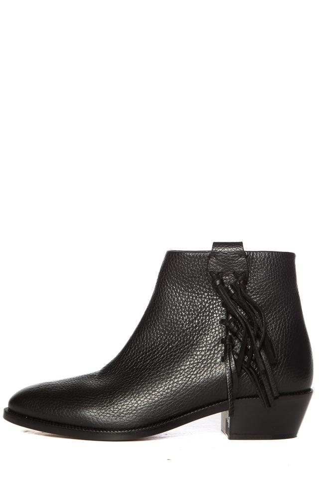 Valentino Black Black Valentino Leather C-rockee Ankle Boots/Booties 6c05dd