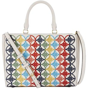 Tory Burch Tote in Ivory/Multicolor