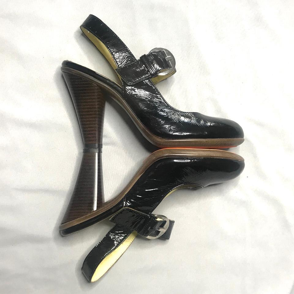 27b526361 Crocs Black Patent Leather Mary Jane Heels Pumps. Size  US 7.5 Regular ...