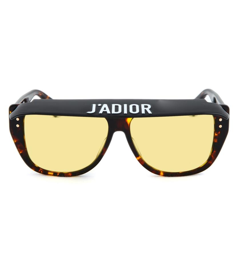 63bcb07067 Dior NEW Dior Club 2 Oversize Flat Top J adior Visor Sunglasses Yellow Lens  Image ...