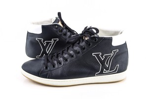 Louis Vuitton Blue Leather Surfside Sneakers Navy Shoes