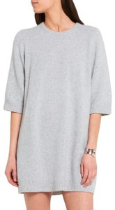 The Elder Statesman short dress Gray Cashmere Sweater on Tradesy