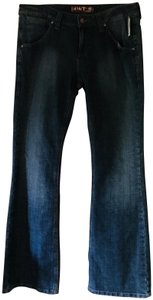 Hint Jeans Flare Leg Jeans-Medium Wash