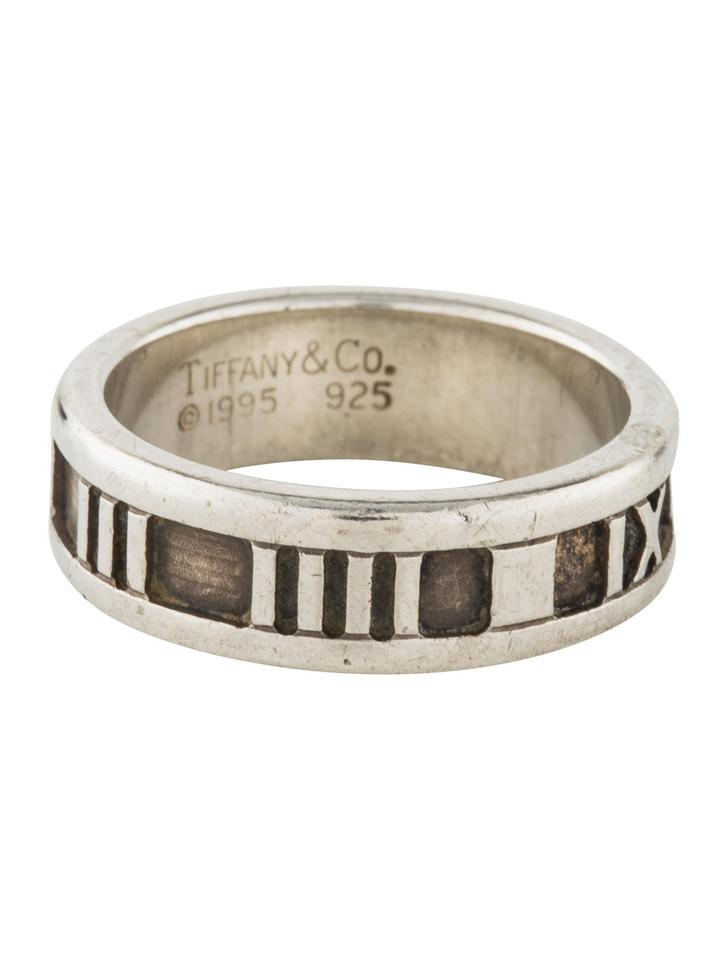 985c1c5c4 Tiffany & Co. Atlas Collection Sterling Silver with Engraved Roman Numeral  Design Rings/Designer Ring - Tradesy