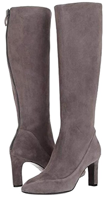 Item - Gray Arlean Storm Cloud Suede Leather Tall Boots/Booties Size US 7 Regular (M, B)