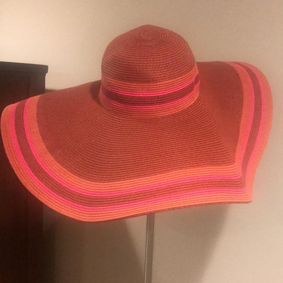 6172d477d5 Banana Republic Rich Red Women s Multi-stripe Sun Hat - Tradesy