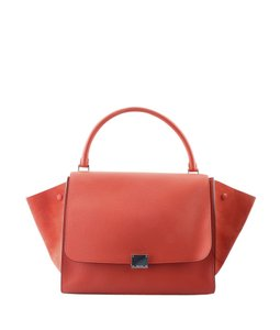 Celine Leather Satchel in Orange