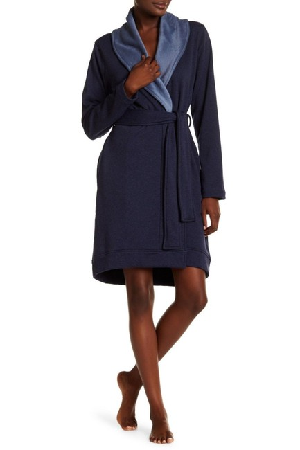 Item - Blue Blanche Plush Fleece Lined Bath Robe Sweatshirt/Hoodie Size 26 (Plus 3x)