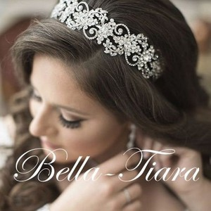 Bella Tiara Silver New Swarovski Crystal Headband Rhinestone Headpiece Hair Accessory