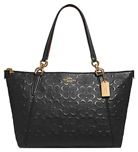 Coach Satchel Leather Satchel 58318 Caoch Ava Tote in black