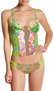 Maaji Maaji Hearts and Crafts Reversible Soft Cup Bustier Tankini Top L