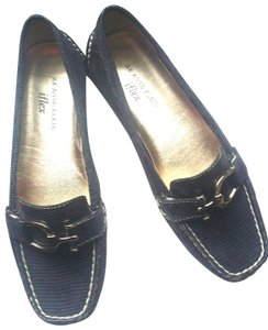 373b137d569 AK Anne Klein Zebra Loafers Buckle New Brown Flats