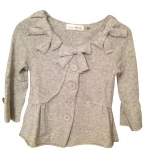 Preload https://img-static.tradesy.com/item/24027/anthropologie-grey-bow-detail-sweater-with-slight-peplum-cardigan-size-0-xs-0-0-650-650.jpg