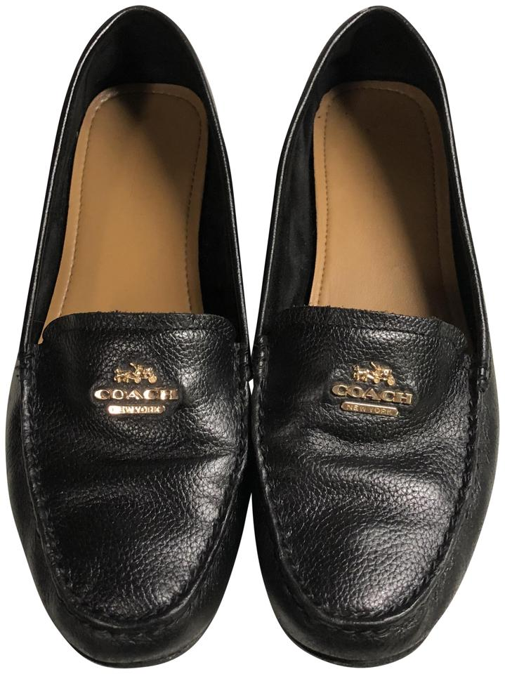 d037df17bf3 Coach Black Opal Pebble Grain Leather Loafers Flats Size US 8.5 ...