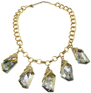 Leslie Danzis Leslie Danzis gold plated crystal necklace statement