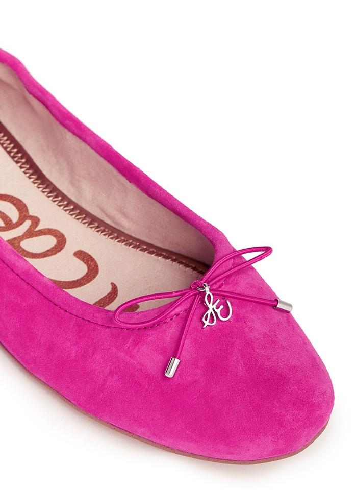76824156f8ff69 Sam Edelman Pink Felicia Suede Leather Ballet Flats Size US 7 ...