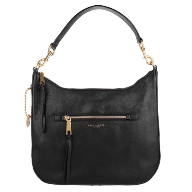 Item - Recruit Black and Gold Leather Hobo Bag