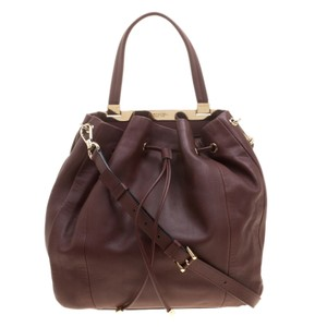 Lancel Tote in Burgundy