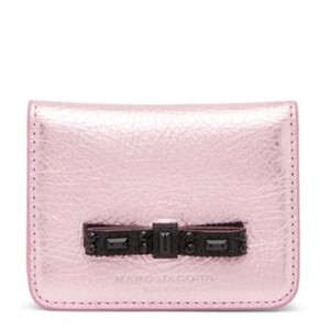 Marc Jacobs Chic Leather Pink Mini Card Wallet