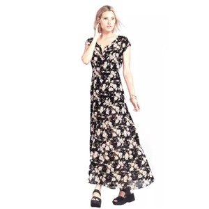Black, Floral Maxi Dress by Reformation