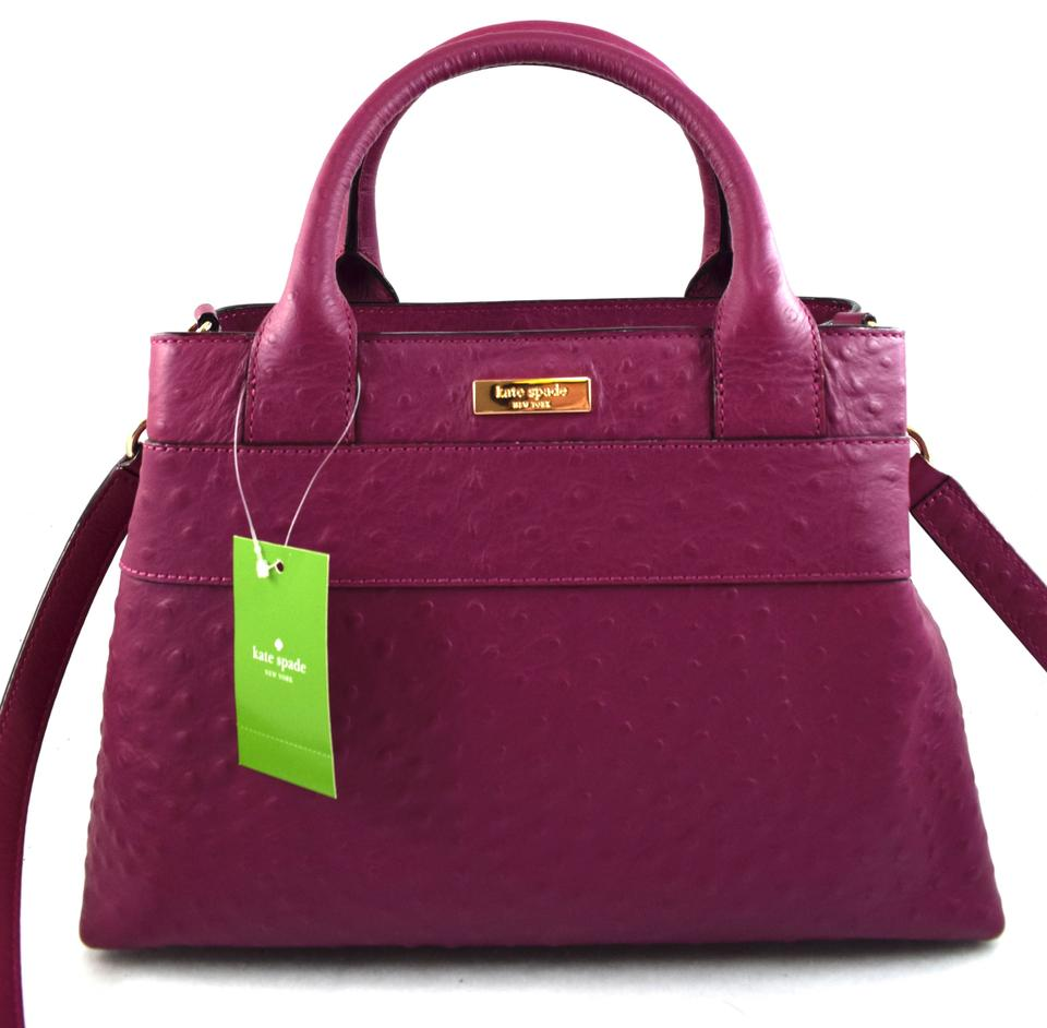 30955816ab Kate Spade Provence Charm City Ostrich Wkru2557 Red Plum 578 Leather ...