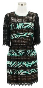BCBGMAXAZRIA short dress Black Green on Tradesy