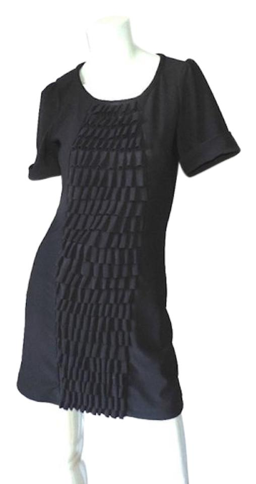 Max Mara Black Retro Look Fitted Short Workoffice Dress Size 8 M