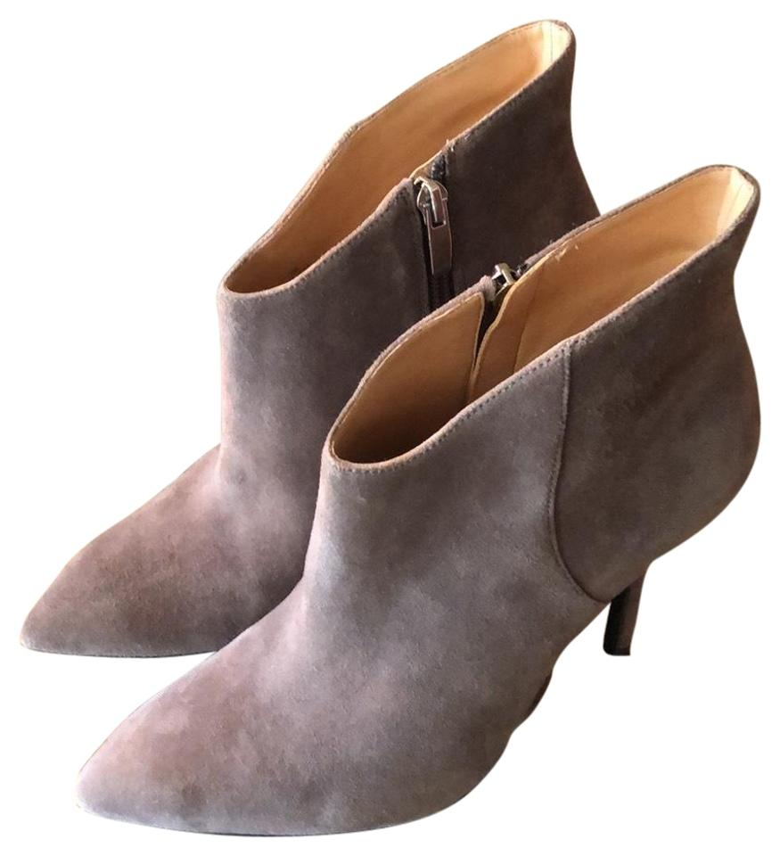 542ff7e5c Enzo Angiolini Grey Suede Pointed Boots Booties Size US 7 Regular (M ...
