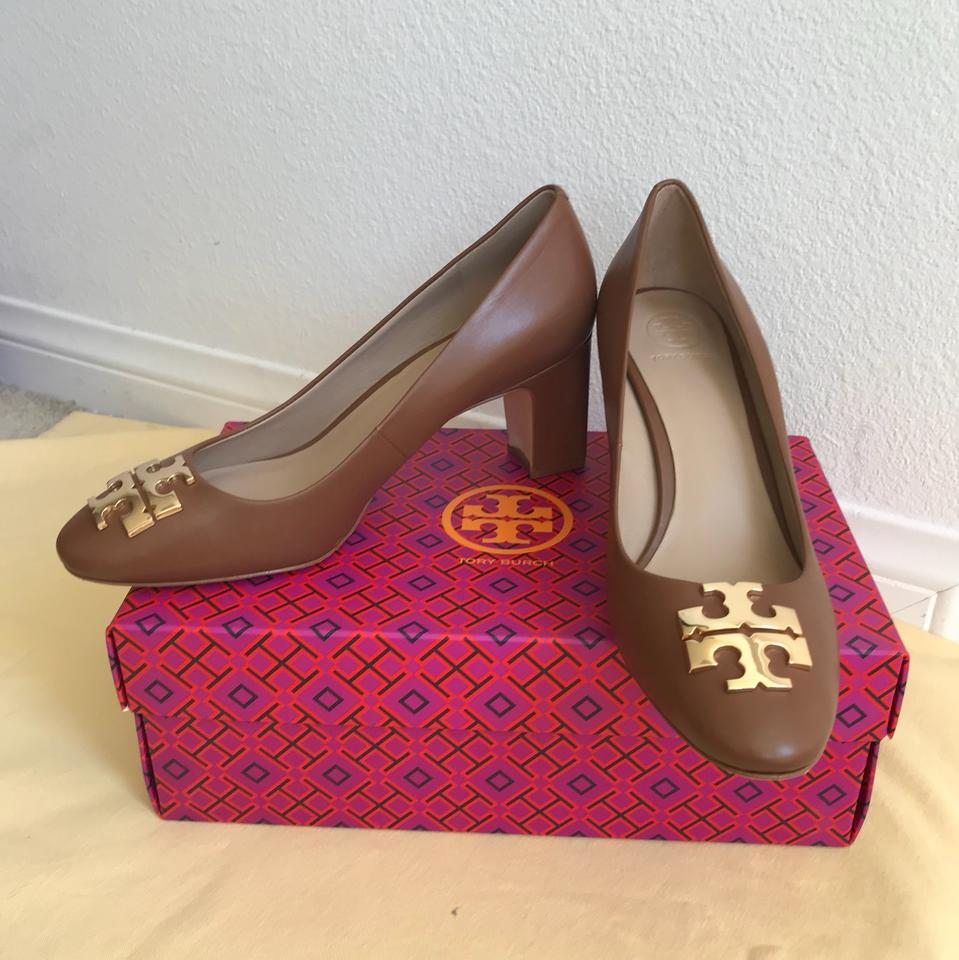 f6fabddea203 Tory Burch Brown 10m   Raleigh   70mm Calf Leather Pumps Size US 8.5 ...