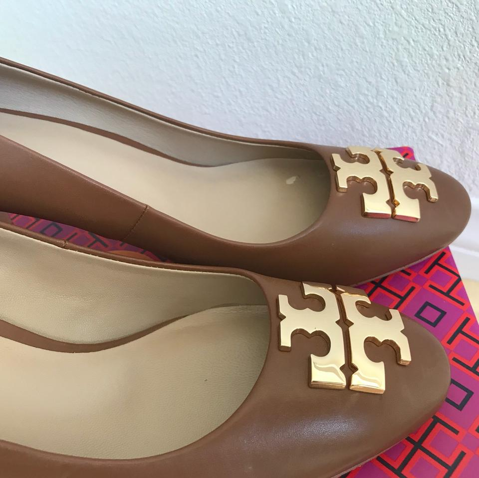 e674b33fe56e Tory Burch Brown 10m   Raleigh   70mm Calf Leather Pumps Size US 8.5  Regular (M