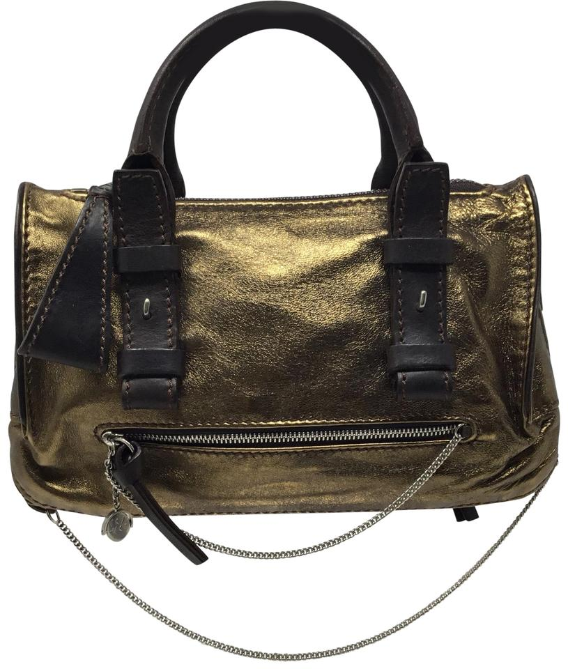 e83b35e7ed35 Chloé Metallic Bronze Leather Satchel - Tradesy