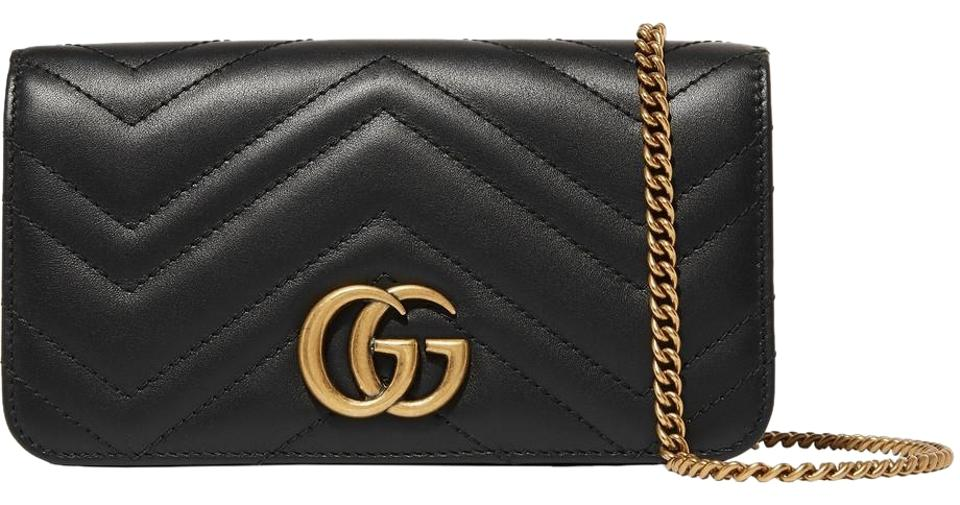 fe9841f7ef3d Gucci Marmont Double G Marmont Chain Marmont Quilted Mini Chain Cross Body  Bag Image 0 ...