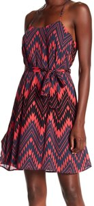 Collective Concepts short dress red/multi-color on Tradesy
