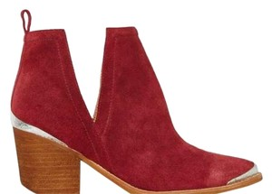 Jeffrey Campbell Suede Cutout Burgundy Western Wine Boots