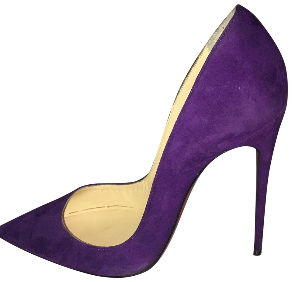 Christian Louboutin Suede Violet So Kate 120 Suede Louboutin Pumps 46c768