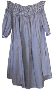 Guess short dress blue and white striped on Tradesy