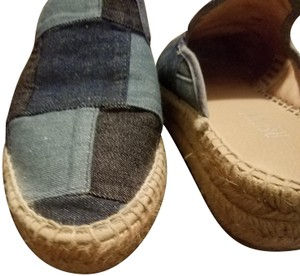 Renvy PATCHWORK DENIM AND TAN Mules