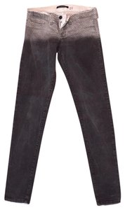 Flying Monkey Ombre White Skinny Jeans-Distressed
