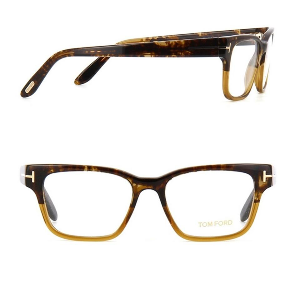 4b82cc13f8f2 Tom Ford New Tom Ford TF 5288 050 Tortoise Havana Rectangular Rx Frame  Image 0 ...