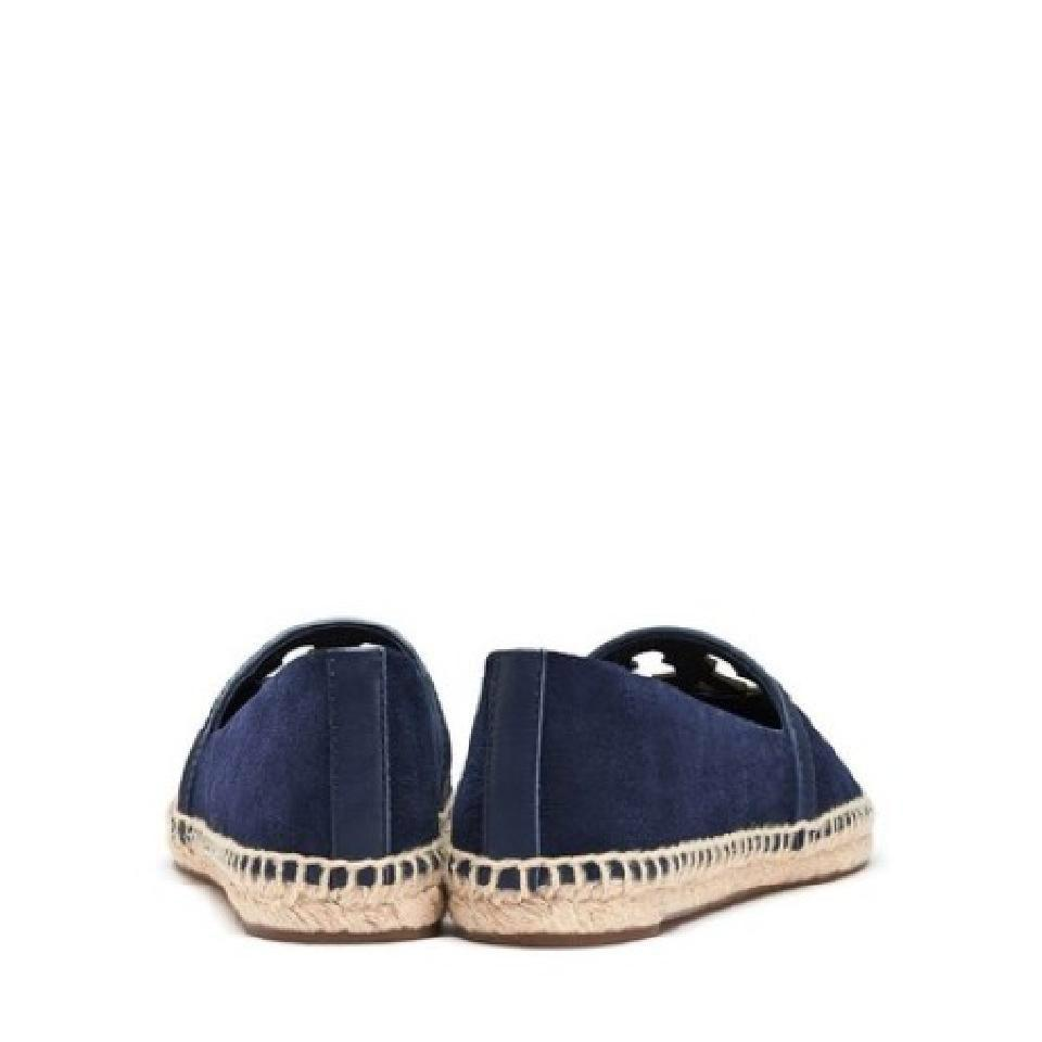 1beed571ff4 Tory Burch Navy Blue Suede Leather Espadrilles Flats Size US 7.5 ...