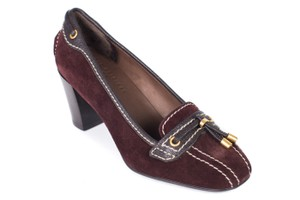 The Original Car Shoe Burgundy Pumps