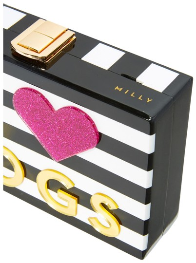 Preload https://img-static.tradesy.com/item/24029160/milly-i-love-cats-i-love-dogs-black-white-and-pink-acrylic-clutch-0-1-540-540.jpg
