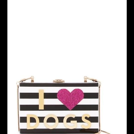 MILLY Chic Black, White & Pink Clutch Image 1