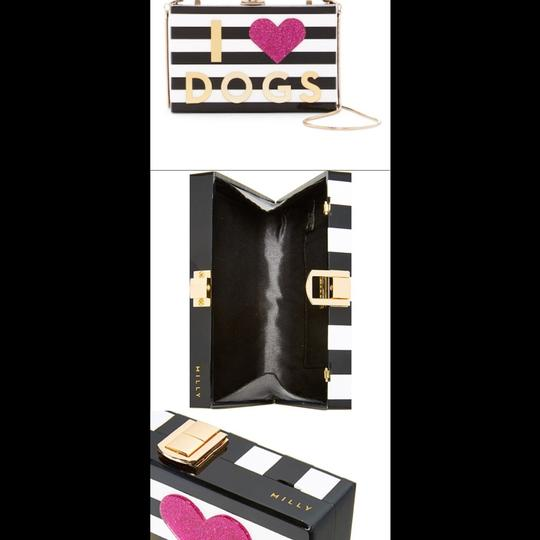 MILLY Chic Black, White & Pink Clutch Image 2