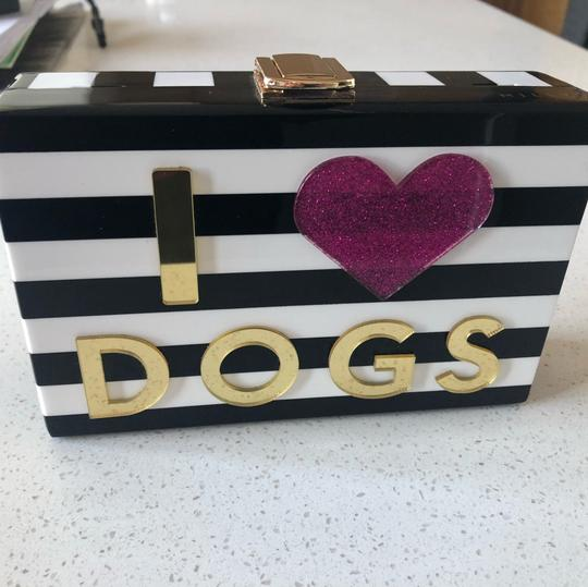 MILLY Chic Black, White & Pink Clutch Image 4