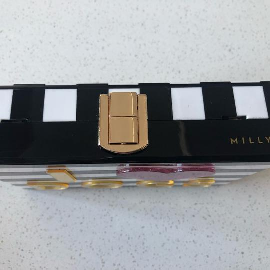 MILLY Chic Black, White & Pink Clutch Image 5