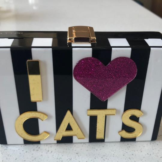 MILLY Chic Black, White & Pink Clutch Image 6