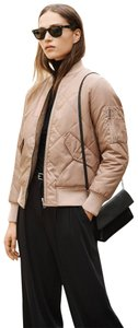 Whistles Reversible Bomber Fur Military Jacket